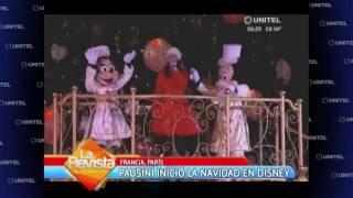 Laura Pausini inicia la Navidad en Disneyland y lo inaugura con un gran show
