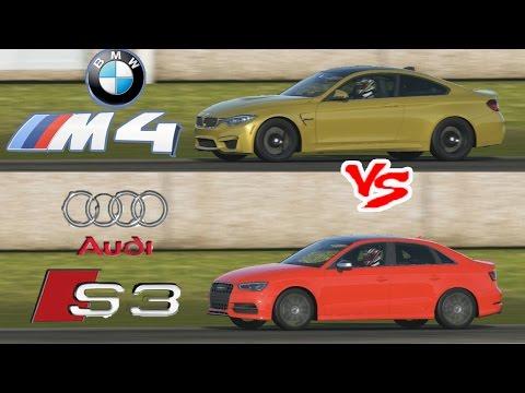2015 BMW M4 vs 2015 Audi S3 - Top Gear Track battle