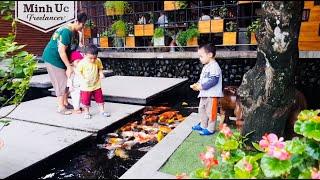 Hồ cá Koi sân vườn đẹp ở Quy Nhơn - Khám phá quán cafe có hồ cá koi đẹp