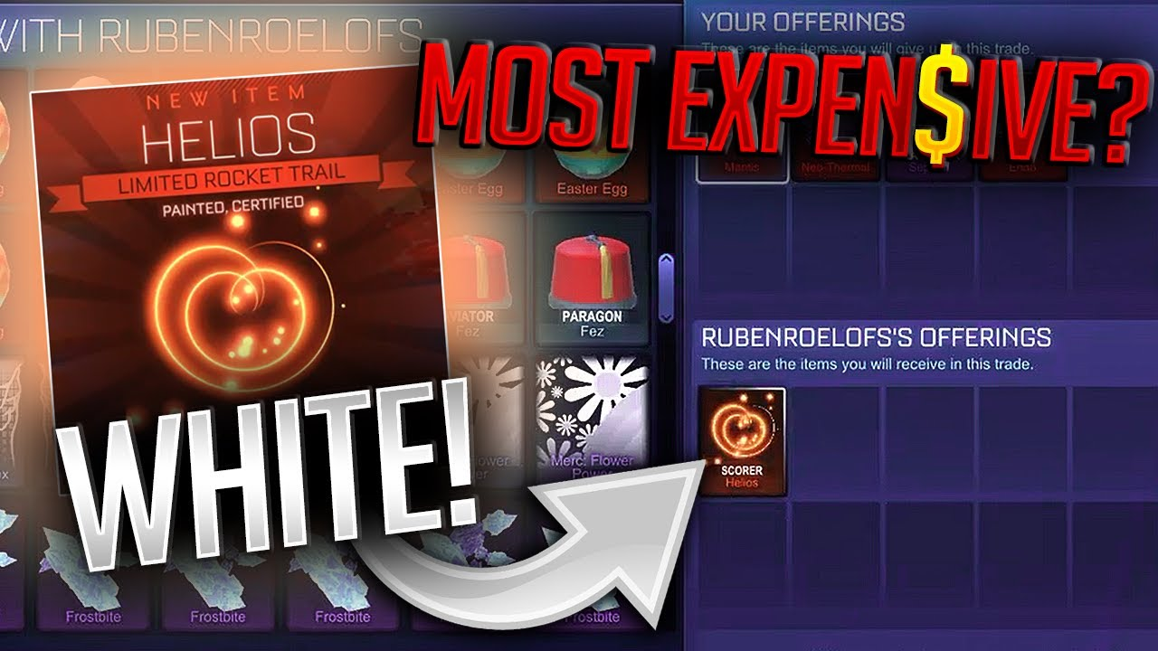 Rocket League New Car >> I GOT THE MOST EXPENSIVE *NEW* 'White' PAINTED HELIOS! New ...
