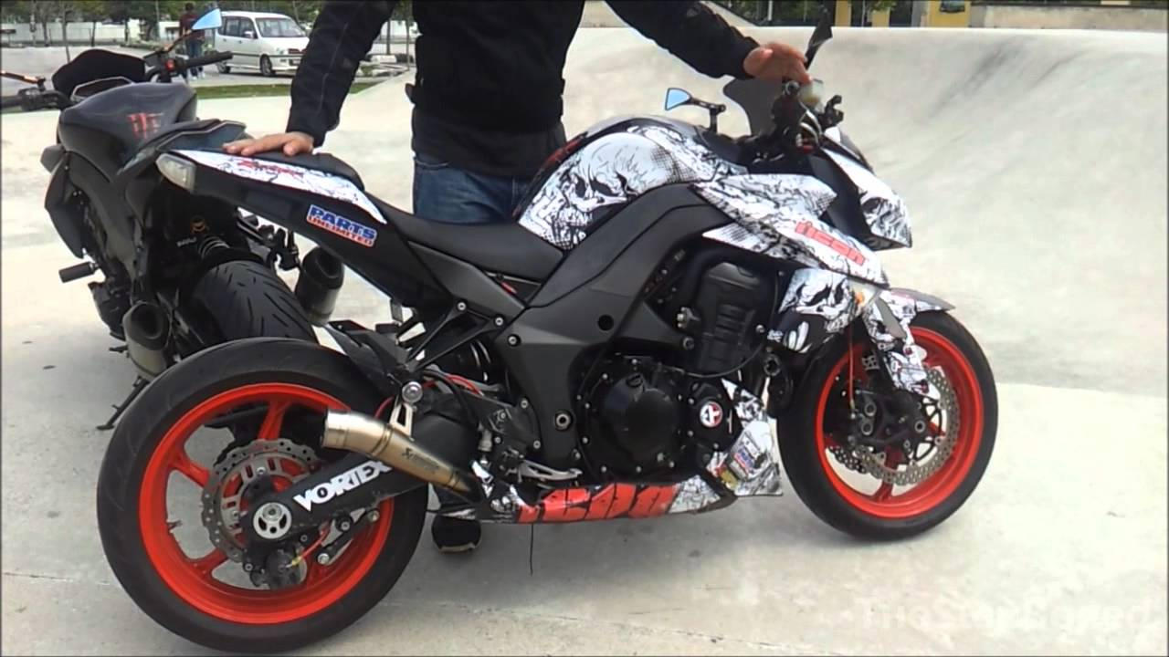 Kawasaki z1000 akrapovic gp vs titanium slip on youtube altavistaventures Gallery
