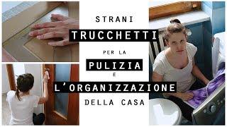 Strani TRUCCHETTI per la PULIZIA e l'ORGANIZZAZIONE della CASA Fai da Te/CLEANING HACKS
