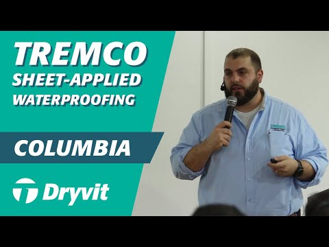 Tremco Sheet-Applied Waterproofing (Colombia Training 5/11)