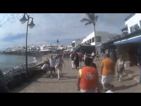 Lanzarote, Playa Blanca Promenade From Marina To Harbour