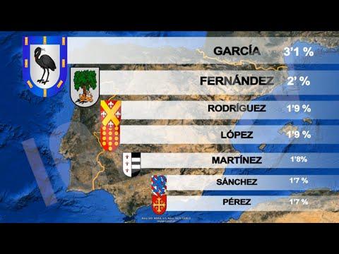 Donde Estan Los Apellidos Mas Comunes En Espana Most Common Last Names In Spain Igeo Tv