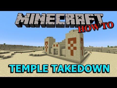 6 Ways To Take On A Minecraft Desert Pyramid!