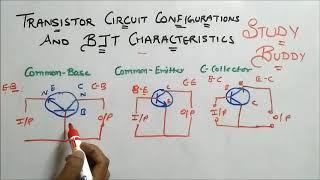 Transistor Circuit Configurations and Input / Output Characteristics