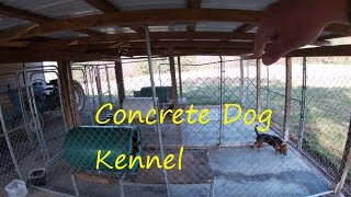 Concrete Dog Kennel/building A Concrete Dog Kennel/kennel Design,tips And Ideas/ Dog Kennel Cleaning