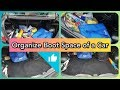 CAR ORGANIZATION IDEAS || HOW TO CLEAN CAR BOOT || ORGANIZATION TIPS || DIY with RJ
