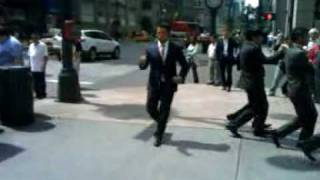 Genki Sudo and World Order performing robot dance moves from their ...