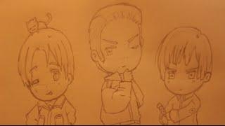 How I draw Italy, Germany and Japan P1 (Hetalia).