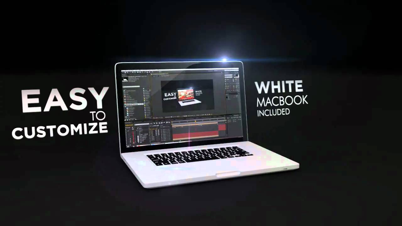 After Effect Template: MacBookPro - YouTube