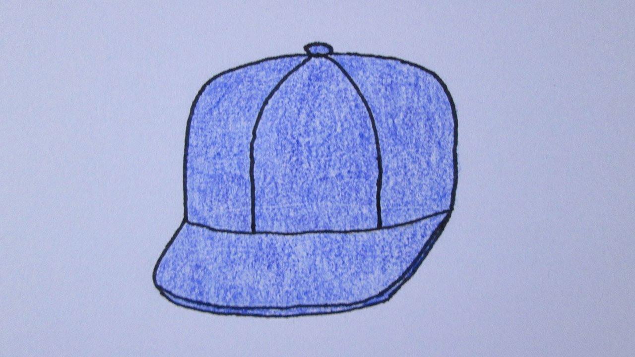 50037763b598f Como desenhar um boné de aba reta - YouTube