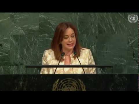 Discurso María Fernanda Espinosa en la Asamblea General de la ONU