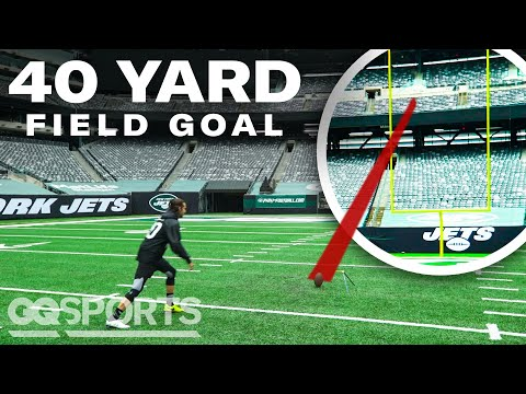 Can an Average Guy Beat an NFL Kicker in a Field Goal Competition? | Above Average Joe | GQ Sports