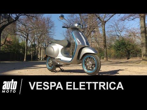 Vespa Elettrica ESSAI POV de la 1ère Vespa électrique Auto-Moto.com
