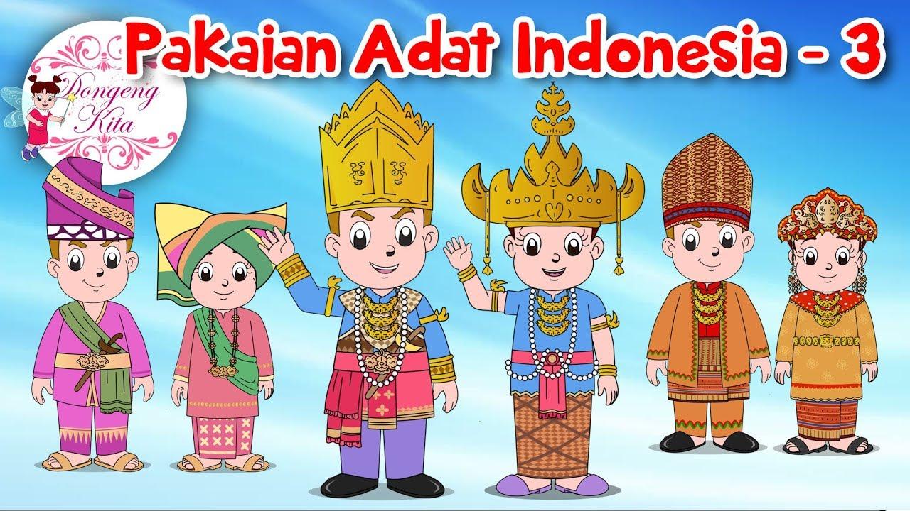 Pakaian Adat Sumatera Selatan Kartun