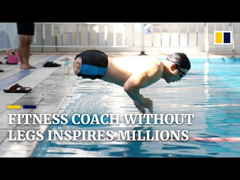 Chinese fitness coach without legs inspires millions
