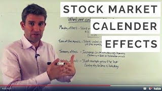 Stock market calendar effects. http://www.financial-spread-betting.com/strategies/strategies-tips.html please like and share this video so we can do more! ...