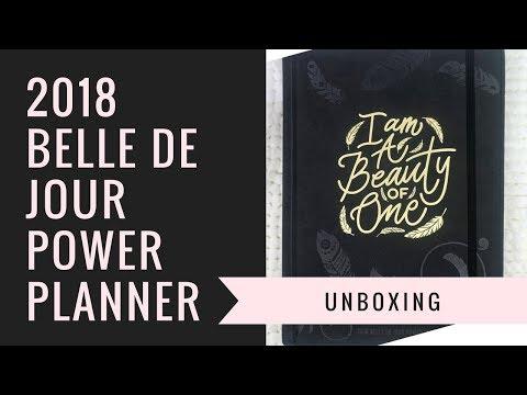 2018 Belle de Jour Power Planner Unboxing   BDJ