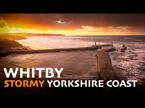January Storms At Whitby On The Yorkshire Coast