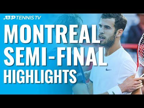 Medvedev Overcomes Khachanov; Monfils Injury Sets Nadal Final | Montréal 2019 Semi-Final Highlights