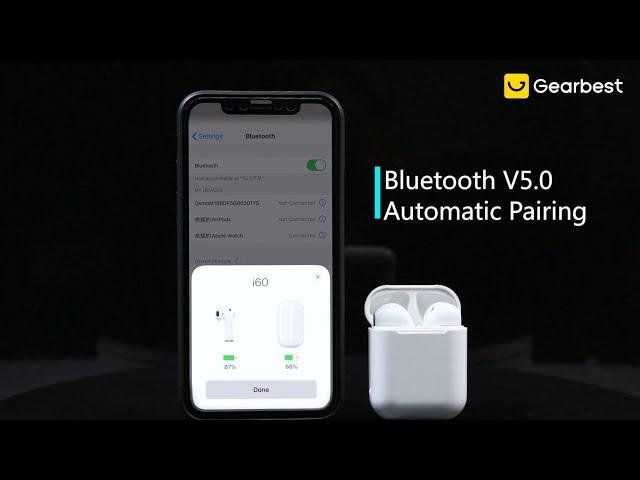 I60 TWS Bluetooth 5.0 Wireless Earphone Racing Electronics Headphone Wiring Diagram on