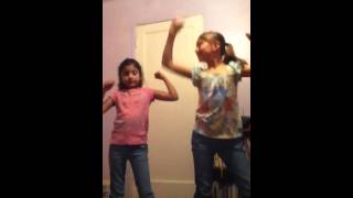 Areal and Gia dancing to big girls you are beautiful