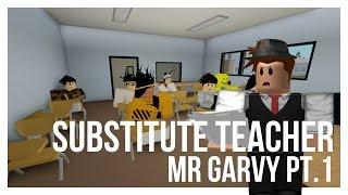 Chave e Peele: professor substituto Sr. Garvy | Uma animação ROBLOX | [Parte 1]