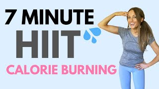 7 MINUTE HIIT WORKOUT | CALORIE BURNING | FULL BODY WORKOUT AT HOME | LUCY WYNDHAM READ