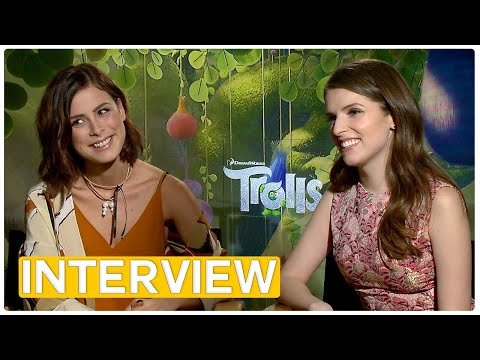 Trolls  Anna Kendrick & Lena MeyerLandrut  Exclusive Interview 2016