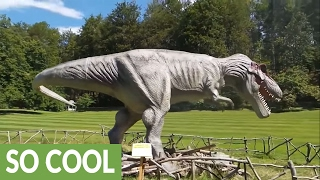 Live-action dinosaurs resemble real life Jurassic Park