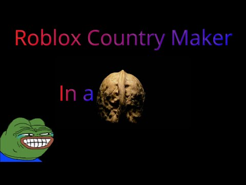 Roblox Country Maker in a nutshell