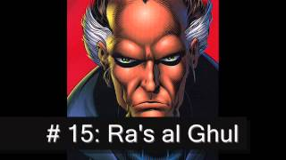 Top 30 Batman Villains