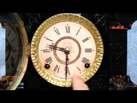 Antique Seth Thomas Adamantine Mantel Clock circa 1880
