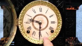 Antique Seth Thomas Adamantine Mantel Clock circa 1880