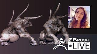 Ashley Adams - Creature & Character Concept Sculpting - Episode 38