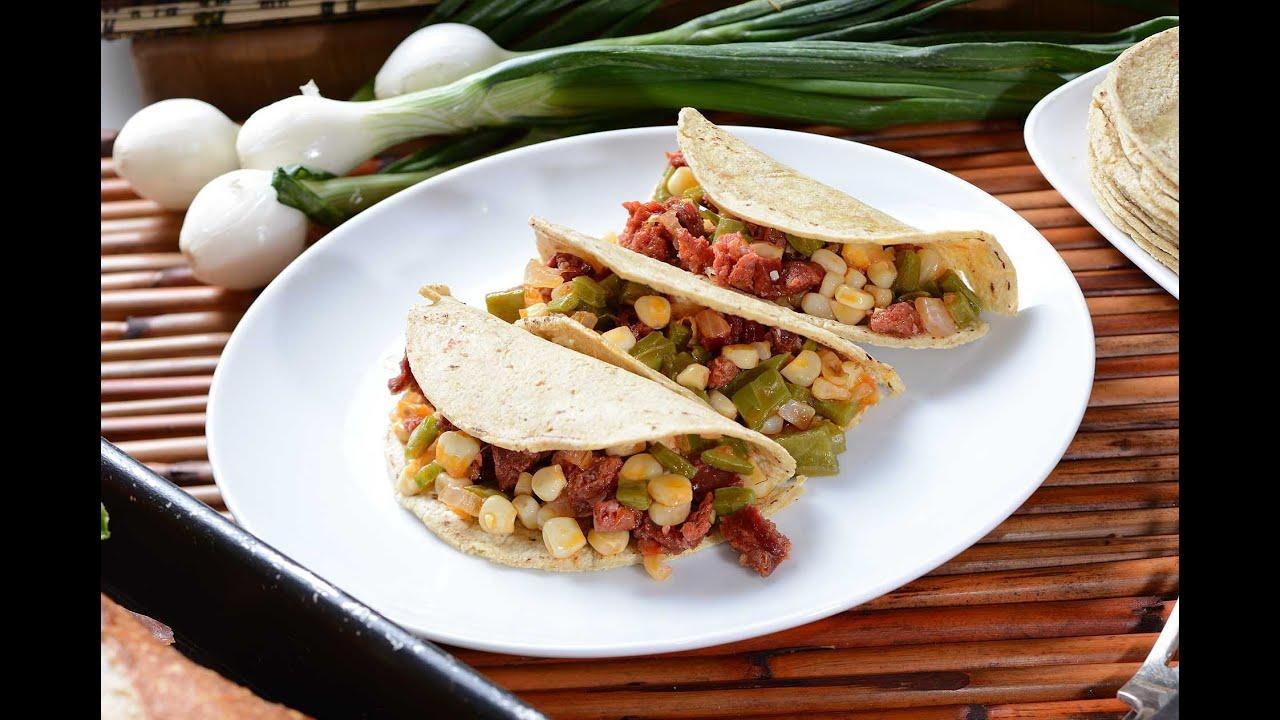 Nopal Tacos Mexican Taco Recipe Youtube
