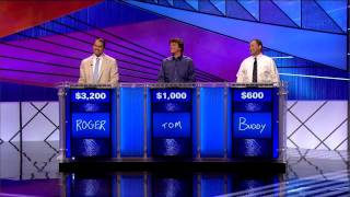 Jeopardy! Tournament of Champions Finals Day 2 11/15/11 Pt. 1