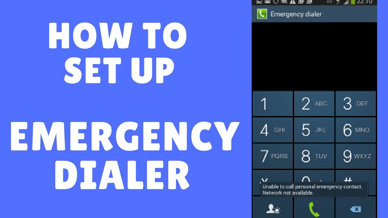 How to Set Up Emergency Call In Android Phone - YouTube