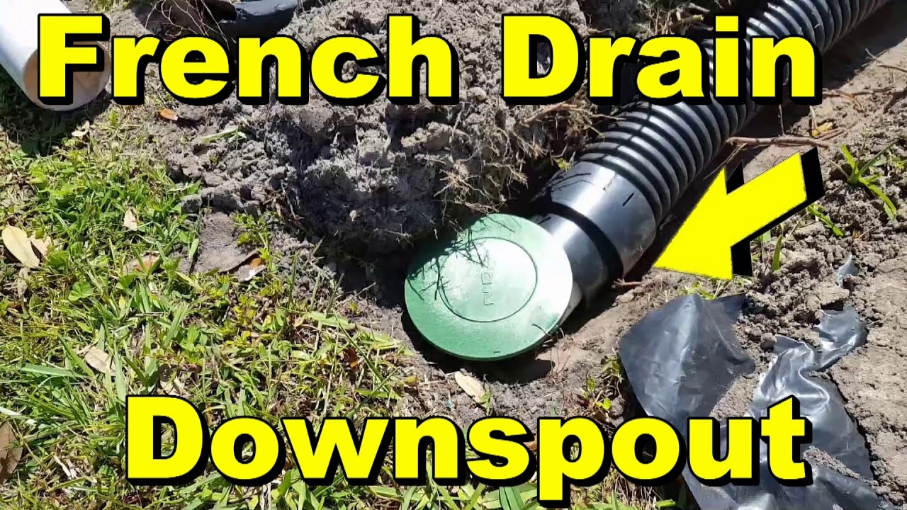 French Drain Downspout Drain Most Important Drain Diy
