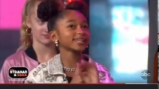 Mylie Stone on GMA's Strahan & Sara Show with Lay Lay
