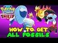 How to get ALL 4 FOSSIL POKEMON in Pokemon SWORD & SHIELD - FOSSIL POKEMON GUIDE