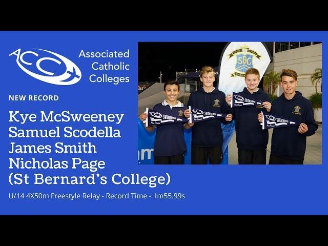 U/14 4x50 Freestyle Relay - St Bernard's College