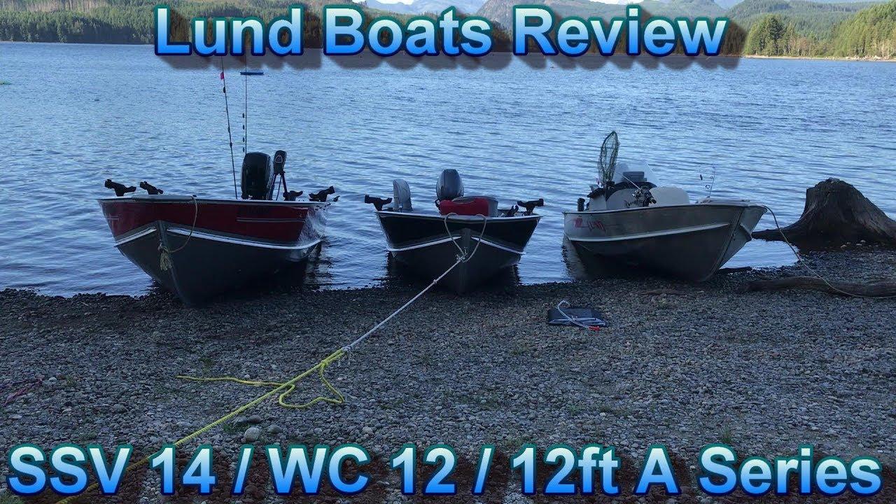 "Lund Boats SSV 14, WC 12, 12ft ""A"" series comparison"