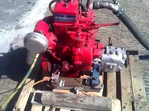 Bukh Dv10 10hp Single Cylinder Marine Diesel Engine Youtube