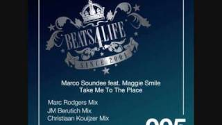 "Marco Soundee feat. Maggie Smile ""Take me to the place"" (Christiaan Kouijzer remix)"