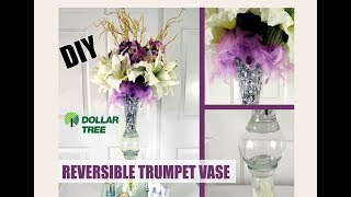 LUXE AMAZING - Dollar Tree D.I.Y. Reversible Trumpet Vase -Wedding Budget Bride - $5