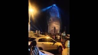 Burj Arab fireworks