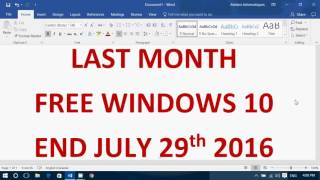 Tips and tricks on the Last Month of Windows 10free upgrade and what you can do